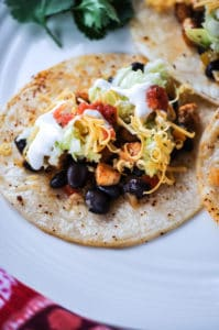 Vegan Tofu and Black Bean Street Tacos with Shredded Cabbage https://www.veganblueberry.com