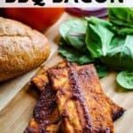 pinnable image of vegan tofu bacon