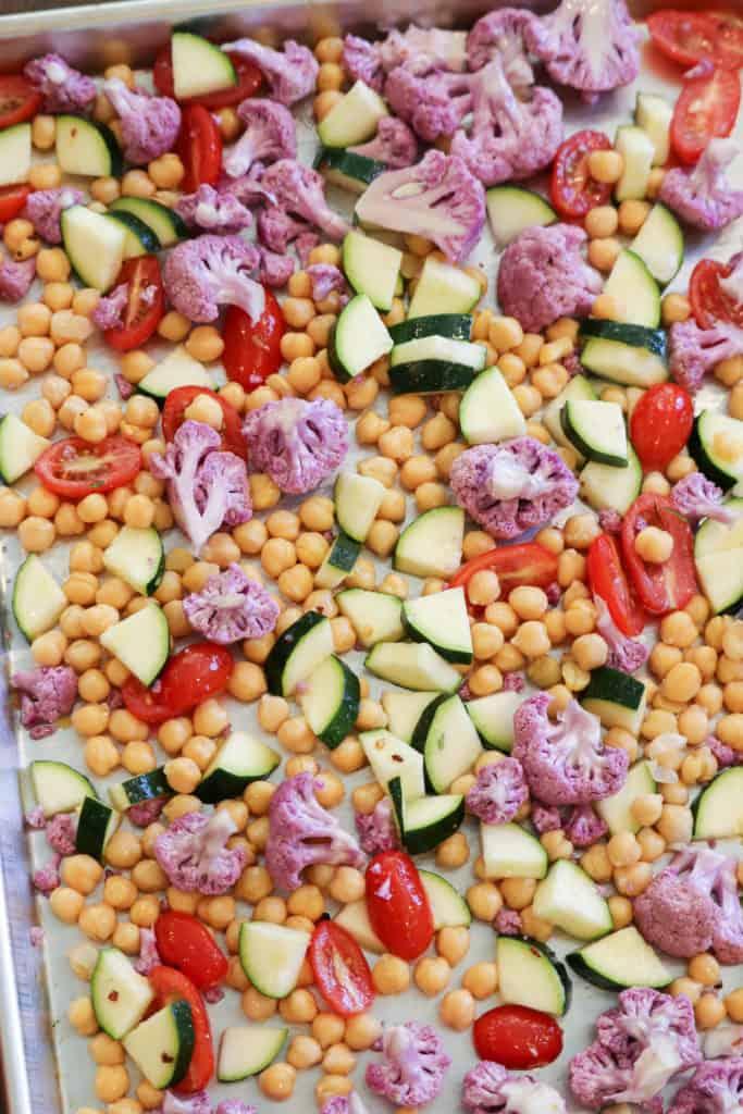 Roasted Veggies and Vegan Pesto Pasta https://www.veganblueberry.com