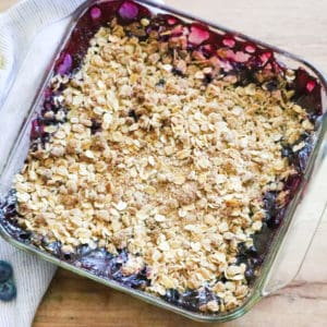 Super Quick and Tasty Blueberry Crisp https://www.veganblueberry.com
