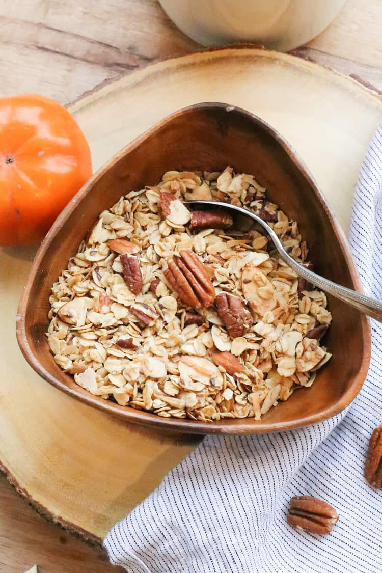 Maple flavored Pecan Pie Granola