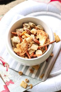 Best Vegan Chex Mix--All ingredients you have in your kitchen!! https://www.veganblueberry.com