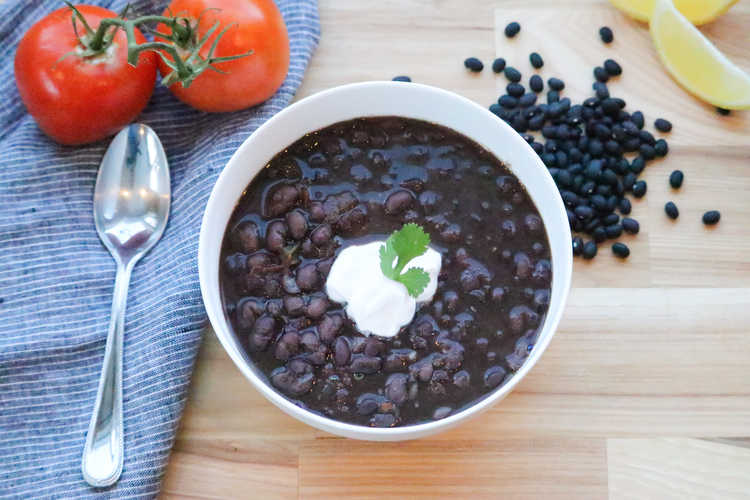 Vegan Black Bean Soup (Instant Pot)