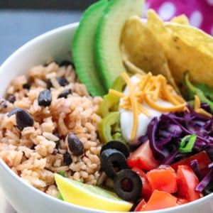 Mexican Rice and Black Beans made in the Instant Pot