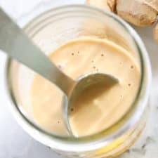 Vegan Tahini Dressing with Ginger and Lemon