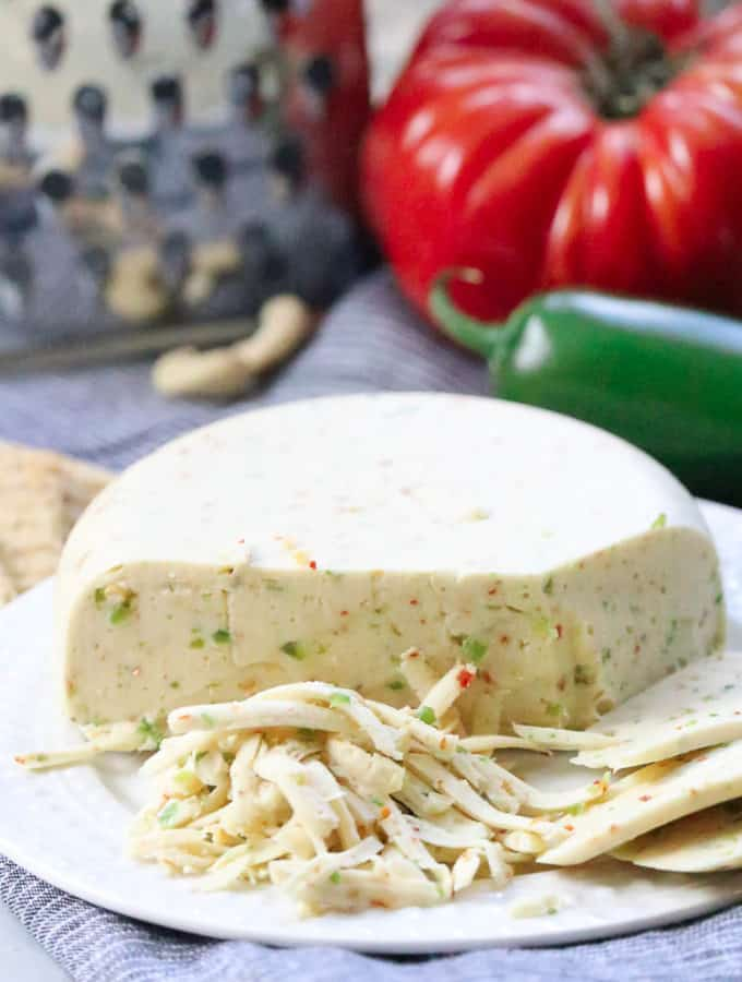 Best Vegan Pepper Jack Cheese (Shreddable)