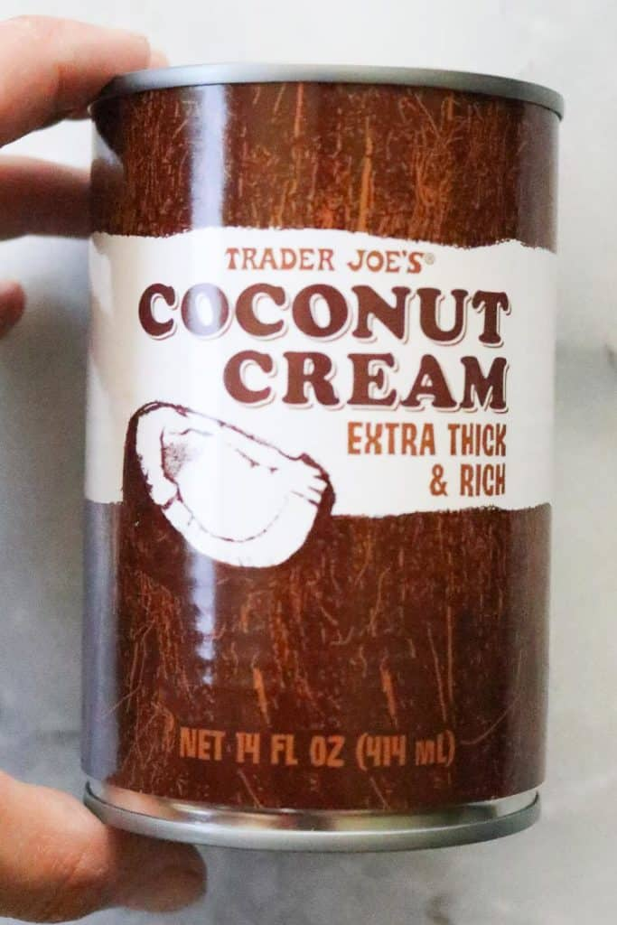 View of unopened can of Coconut Cream