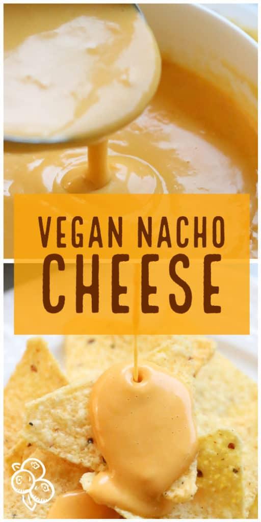 Pinterest Graphic of Vegan nacho cheese