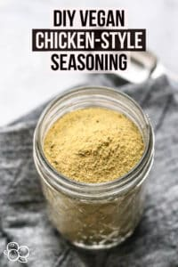 Pinterest graphic for Vegan Chicken Style Seasoning