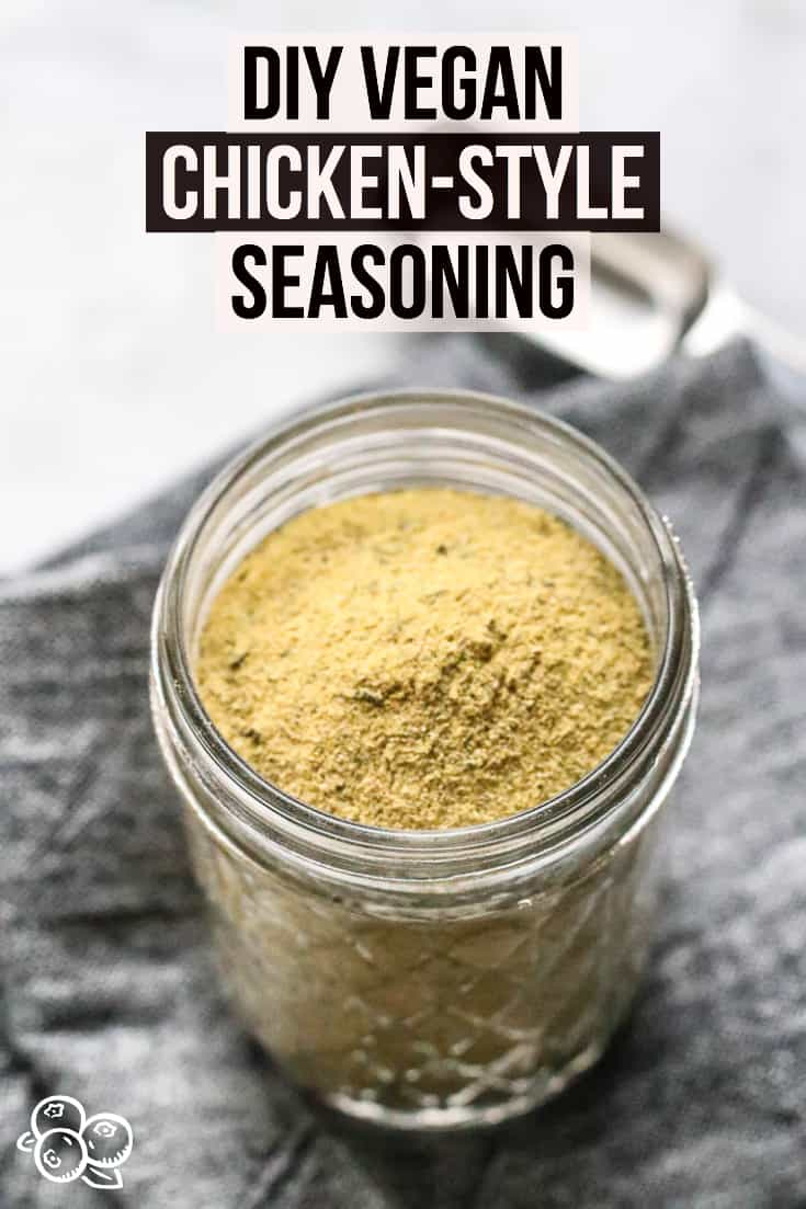 Make your own Vegan Chicken-Style Seasoning that you can use dry or dilute in water to make vegan Chicken broth!  Replaces traditional chicken stock wonderfully!  #veganchickenbroth #vegetarian #vegetablebroth #vegetarianchickensoup
