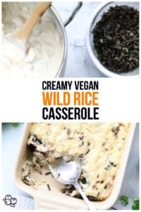 pinterest graphic for vegan wild rice casserole