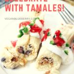 vegan tamale pinterest graphic