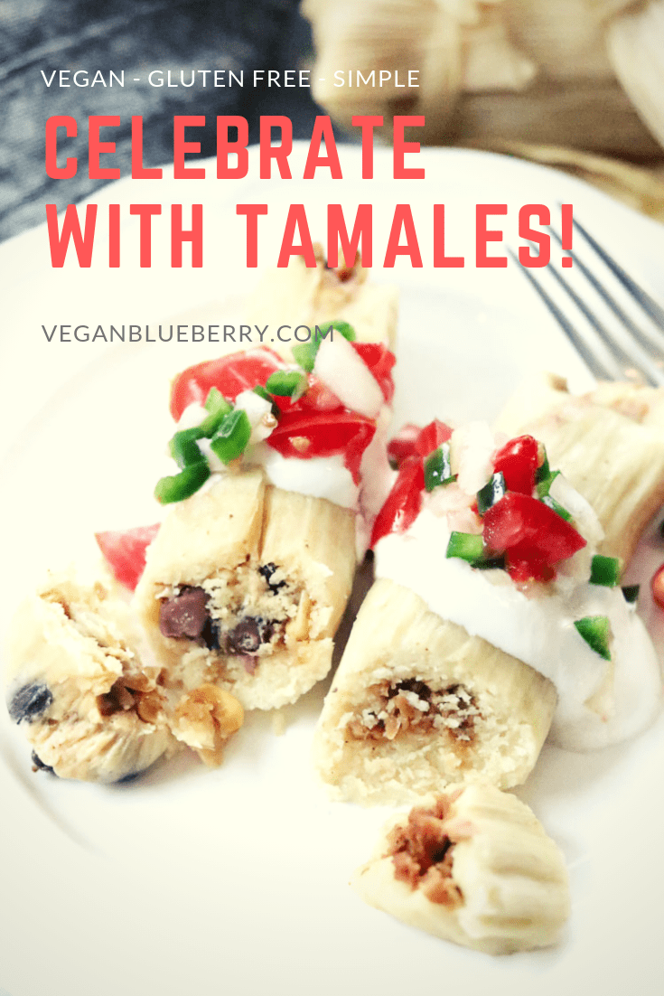 Easy and yummy with two delicious filling options, this step-by-step vegan tamale recipe tells you everything you need to know to make authentic Mexican tamales in your Instant Pot or in a stove-top steamer.  #vegan #tamale