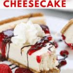 pinnable image of easy vegan cheesecake