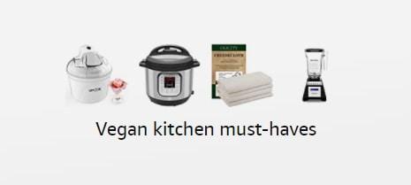 screenshot of amazon storefront - vegan kitchen must haves