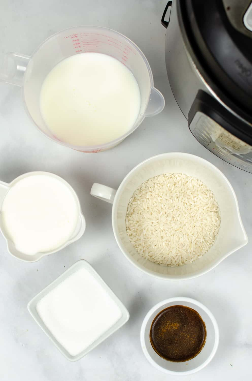 ingredients for instant pot rice pudding