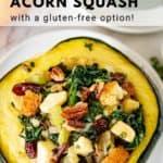 pinnaple image of vegan stuffed acorn squash