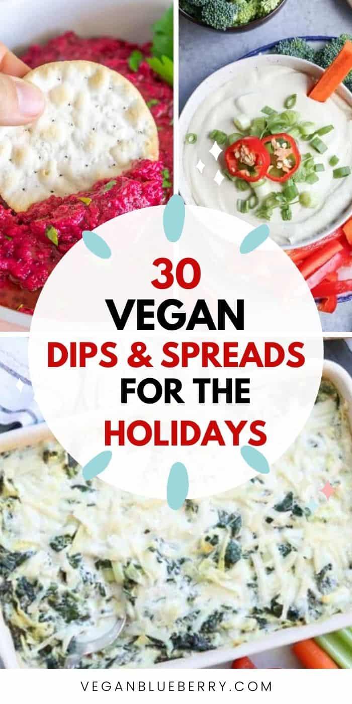 pinnaple image of vegan appetizers, spreads, dips