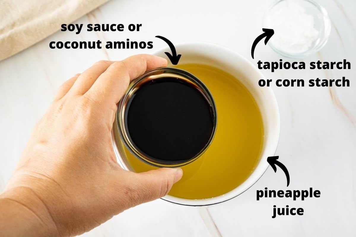 ingredients for pineapple stir fry sauce