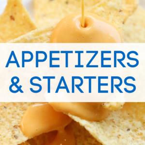 Vegan appetizers graphic.