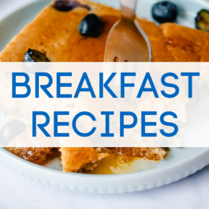 Vegan breakfast recipes graphic.