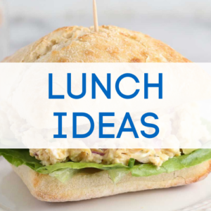 Lunch ideas graphic.