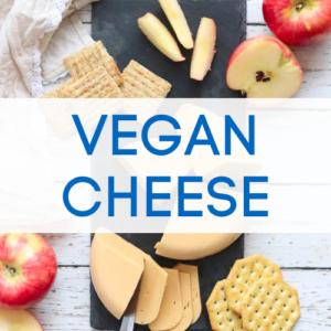 Vegan cheese recipe graphic.