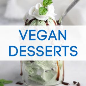 Vegan desserts graphic.
