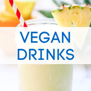 Vegan drinks graphic.